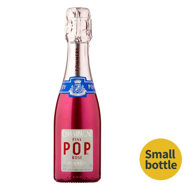 Pommery champagne pink pop