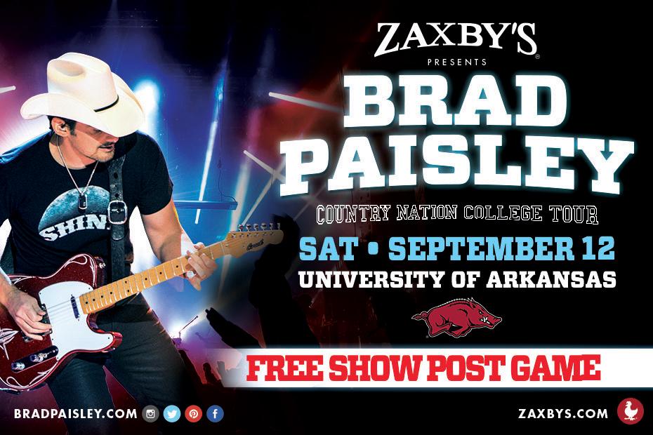 Brad paisley concert little rock arkansas