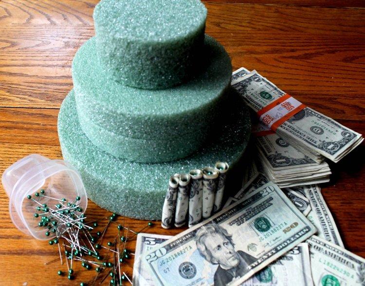 Изготовление денежного тортика