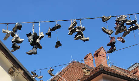 Shoes on the line in ESL land