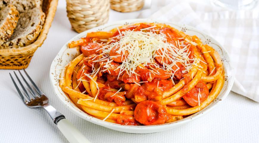 Как приготовить спагетти с сосиской