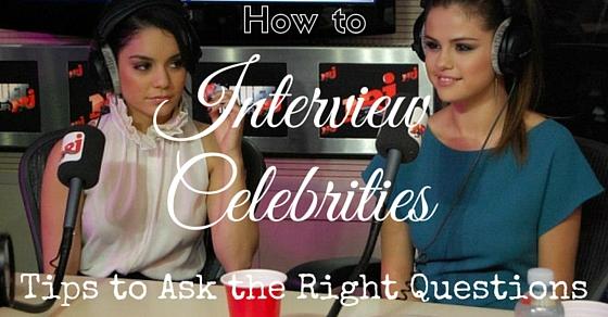 Interview celebrities