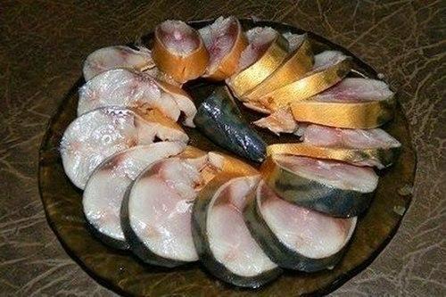 Скумбрия соленая с заваркой