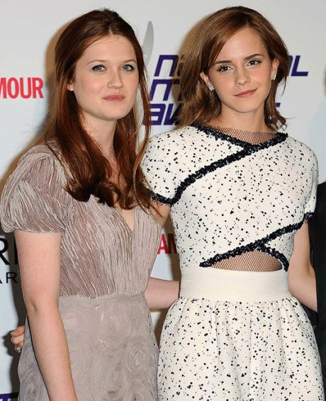 Emma watson and bonnie wright