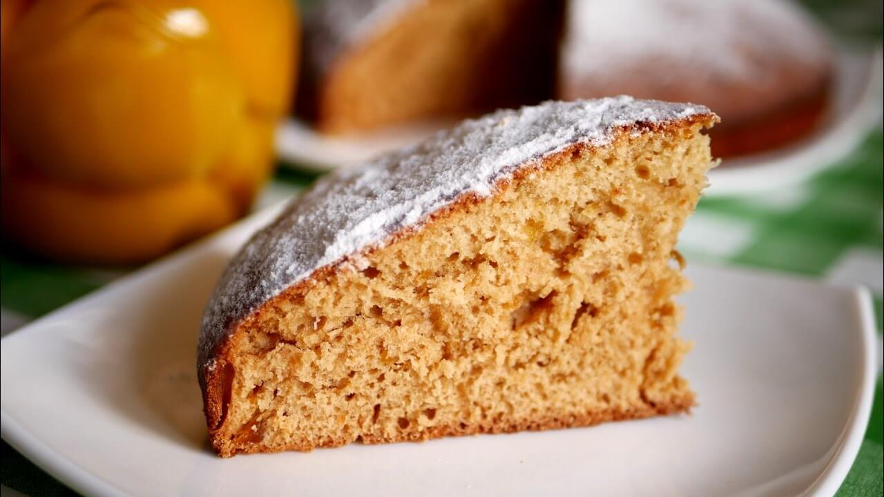 Пирог кефир и варенье