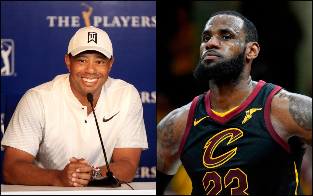 Tiger woods and lebron james