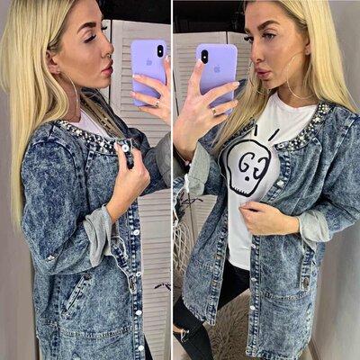 Модные джинсовые кардиганы