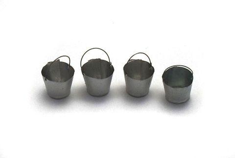 Metall bucket, 4pc