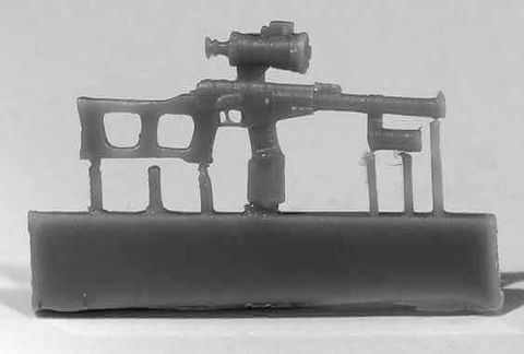VSS Vintorez sniper rifle w. NSPU-3 scope, 6pc