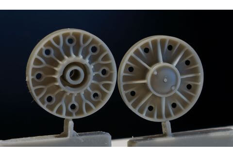 Ground wheels set for KV-85, SU-152