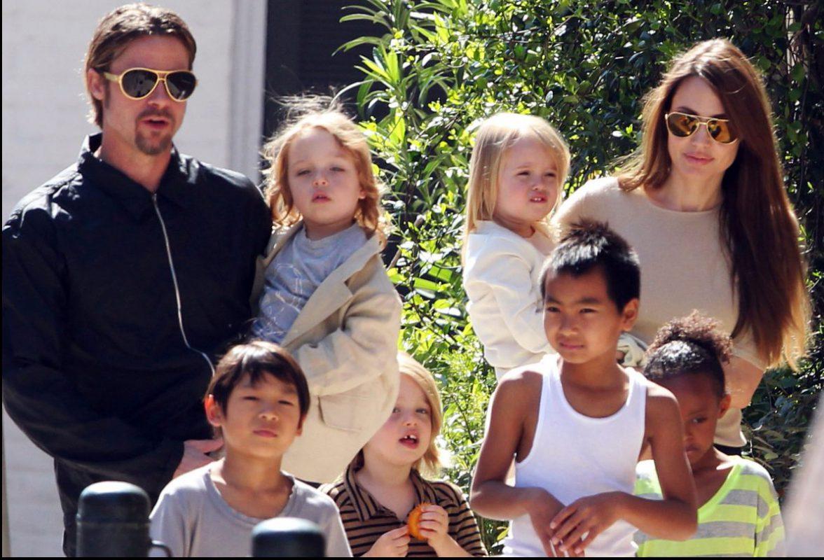 Брэд питт и его родные дети фото