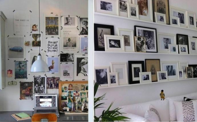 Как красиво повесить фотографии на стене