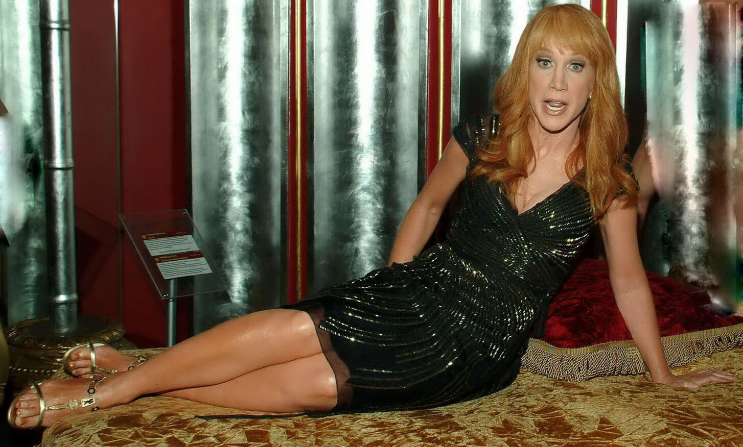 Kathy Griffin sexy long leg
