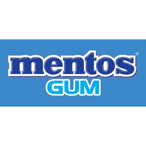 Mentos gum blue logo