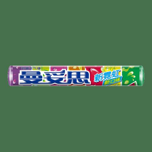 曼妥思霓虹条糖新包装新口味