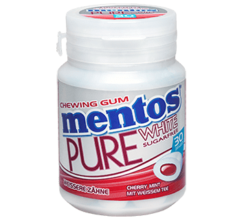 MENTOS KAUGUMMI PURE WHITE CHERRY MINT