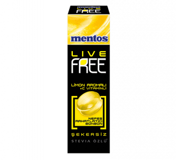 MENTOS LIVE FREE LİMON + C VİTAMİNLİ