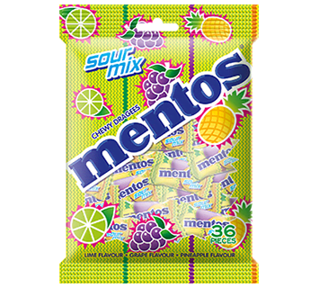 Mentos Sour Mix 36p Bag