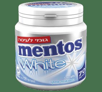 מסטיק מנטוס וויט ביג בטעם מנטה מתוקה