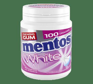 MENTOS CHEWING-GUM WHITE TUTTI FRUTTI 100 PIÈCES