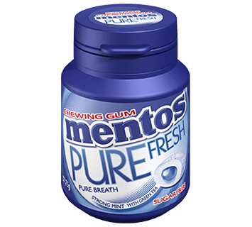 Mentos Pure Fresh Gum Strong Mint French Bottle