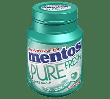Mentos Pure Fresh Gum Wintergreen French Bottle