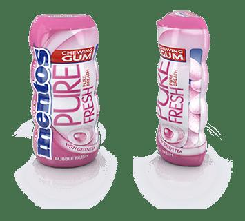 Mentos Gum Pure Fresh Bubble Fresh Pocket Bottle