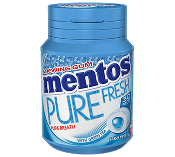 Mentos Pure Fresh Gum Fresh Mint Medium Bottle