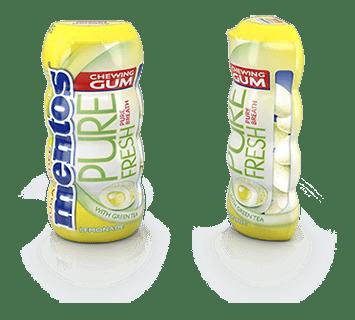 Mentos Gum Pure Fresh Lemonade Pocket Bottle