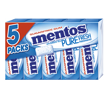 Mentos Pure Fresh Gum Stick Packs Fresh Mint MP5