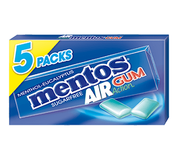 Mentos Gum Air Action 5 Pack