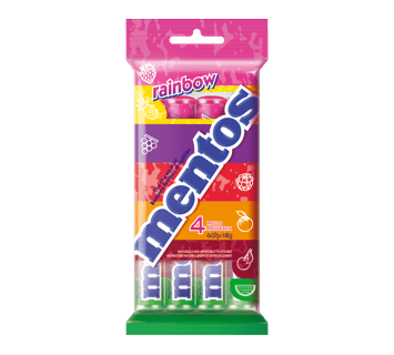 Mentos Chewy Mints Rainbow 4 pack