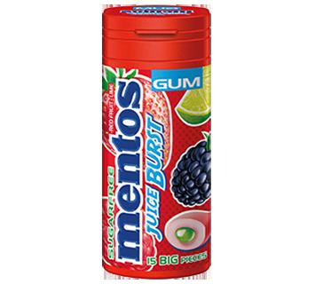 Mentos Gum Juice Burst Pocket Bottle 15pcs