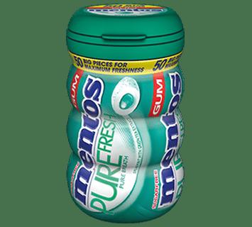 Mentos Pure Fresh Gum Spearmint Big Bottle 50pcs
