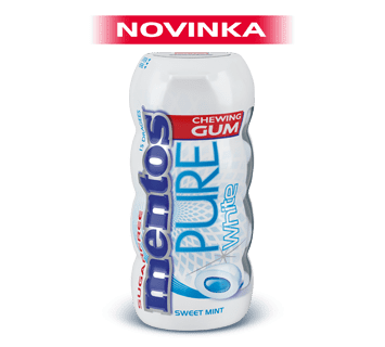 Mentos Pure White Sweet Mint - 15 ks