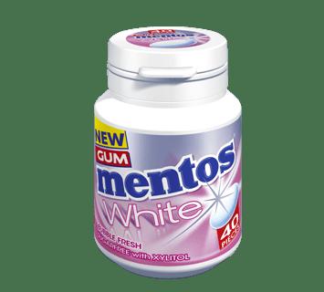 Mentos Gum White - Bubble Fresh Flavour 40 pieces