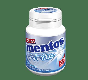 Mentos Gum White - Peppermint Flavour 40 pieces