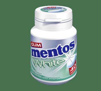 Mentos Gum White - Spearmint Flavour 40 pieces