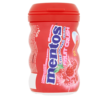 Mentos Gum Fruit Crush - Aardbei pot