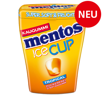 Mentos Kaugummi Ice Cup Tropical