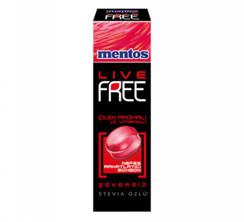 MENTOS LIVE FREE ÇİLEK + C VİTAMİNLİ