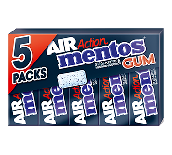 Mentos Air Action Gum Menthol-Liquorice 5-pack