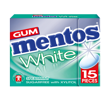Mentos Gum White - Spearmint Flavour 15 pieces