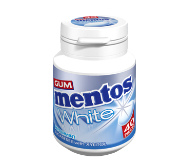 Mentos Gum White - Peppermint Flavour 40 pieces