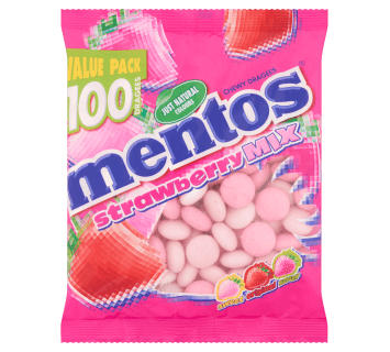Mentos Strawberry Mix bag