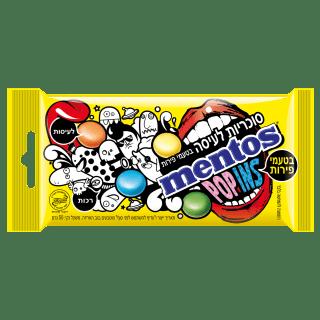 מנטוס פופינס סוכריות לעיסה בטעמי פירות