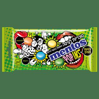 מנטוס פופינס סוכריות לעיסה בטעמי פירות חמוצים