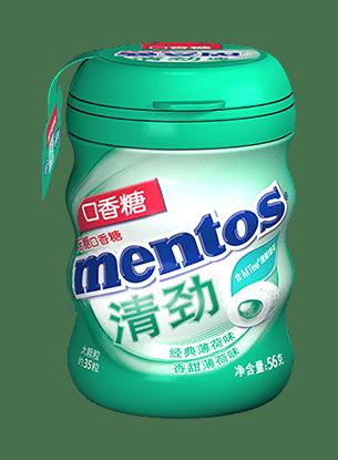 清劲口香糖56克瓶装香甜薄荷味