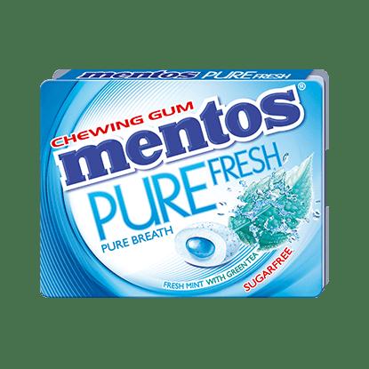 MENTOS PURE FRESH FRESHMINT FLAVORED GUM :BLISTER