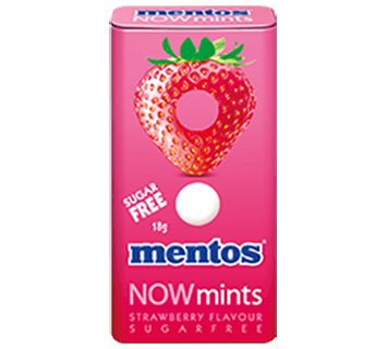 Mentos Now Mints Strawberry